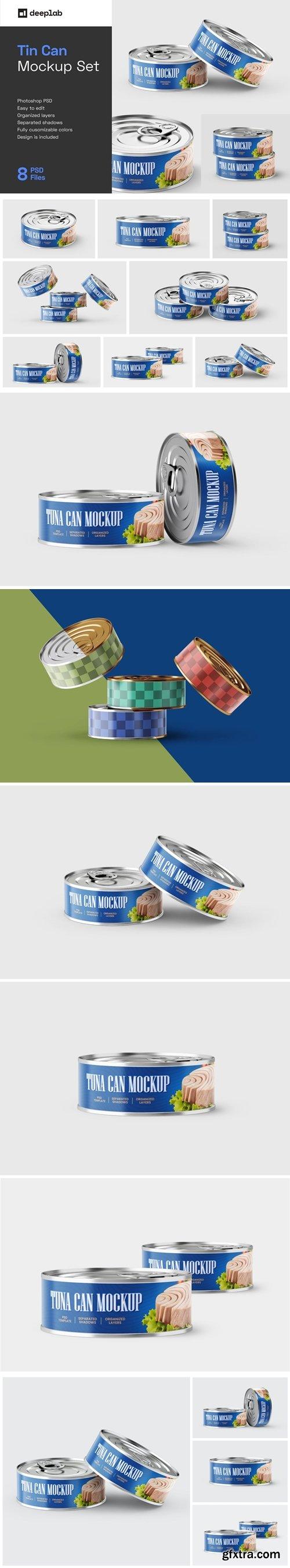 CreativeMarket - Tuna Tin Can Mockup Set 5772456