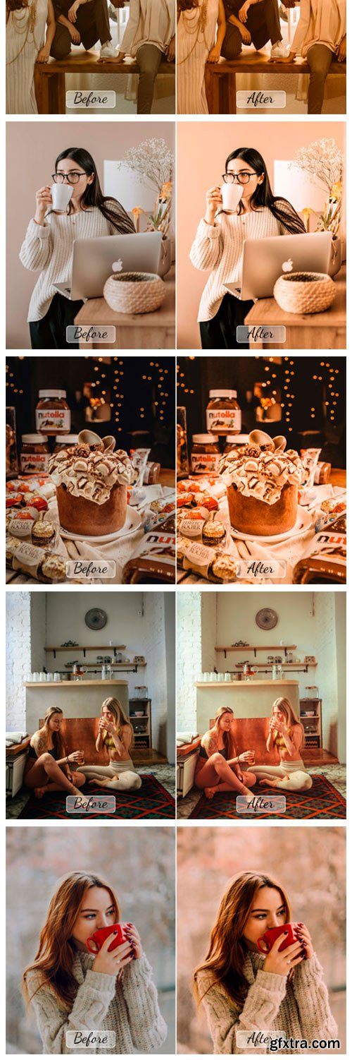 10 Pro Cacao Photoshop Actions, ACR, LUT 7957589
