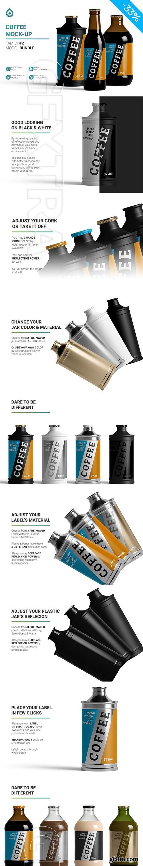 CreativeMarket - Coffee Bottle Jar Mockup 5755421