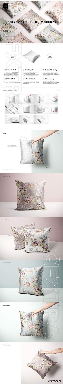 CreativeMarket - Polyester Cushion Cover Mockup Set 5729924