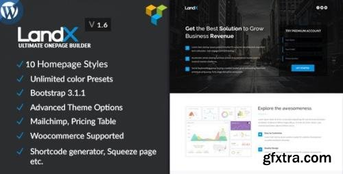 ThemeForest - LandX v1.8.6 - Multipurpose Wordpress Landing Page - 9545842