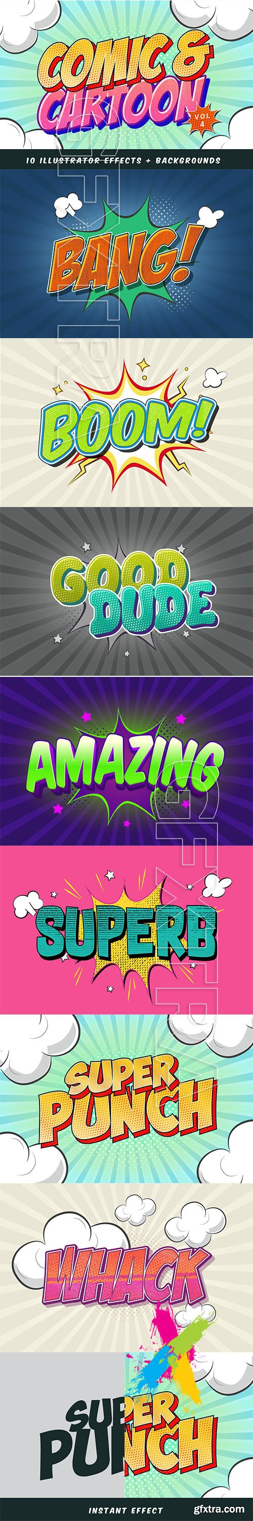 CreativeMarket - Comic and Cartoon Text Effects Vol.4 5668923