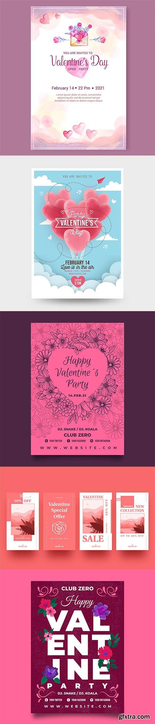Happy Valentines day vector collection vol 3