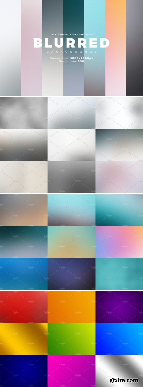 30 Blurred Backgrounds + Gradients 4716806
