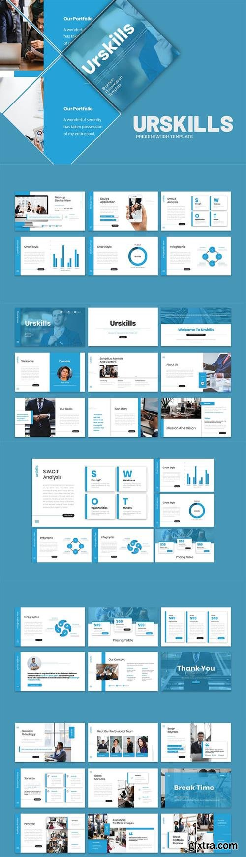 Urskills - Business Presentation Keynote Template