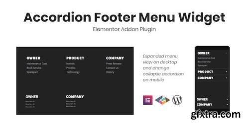 CodeCanyon - Accordion Footer Menu Widget For Elementor v1.0.0 - 30198348