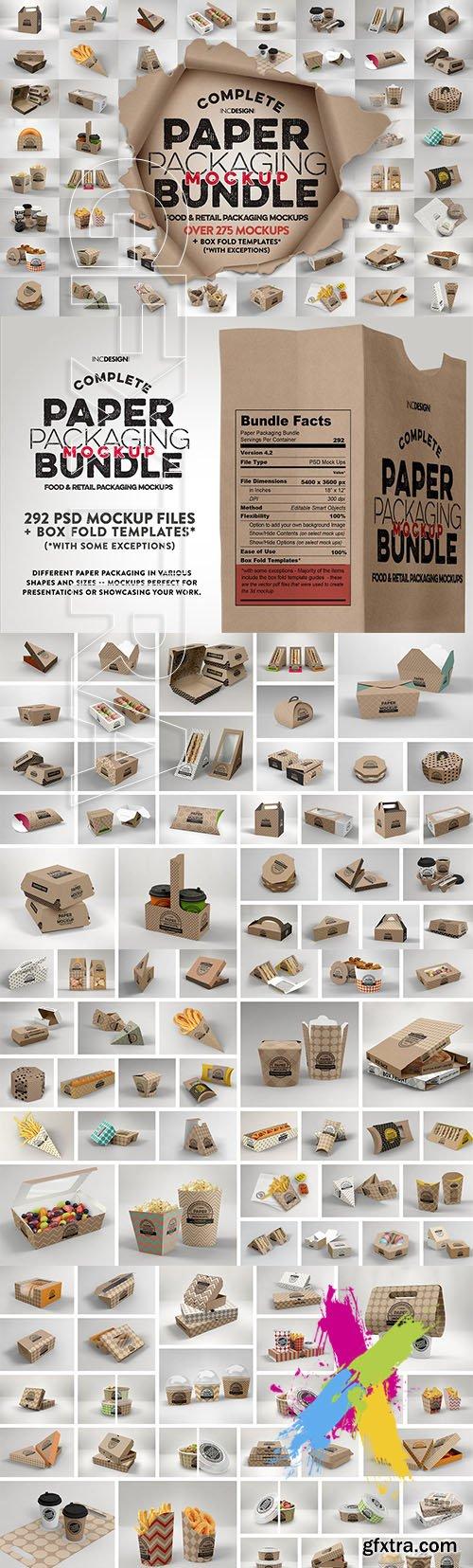 CreativeMarket - BUNDLE: Paper Packaging Mockup 2513245