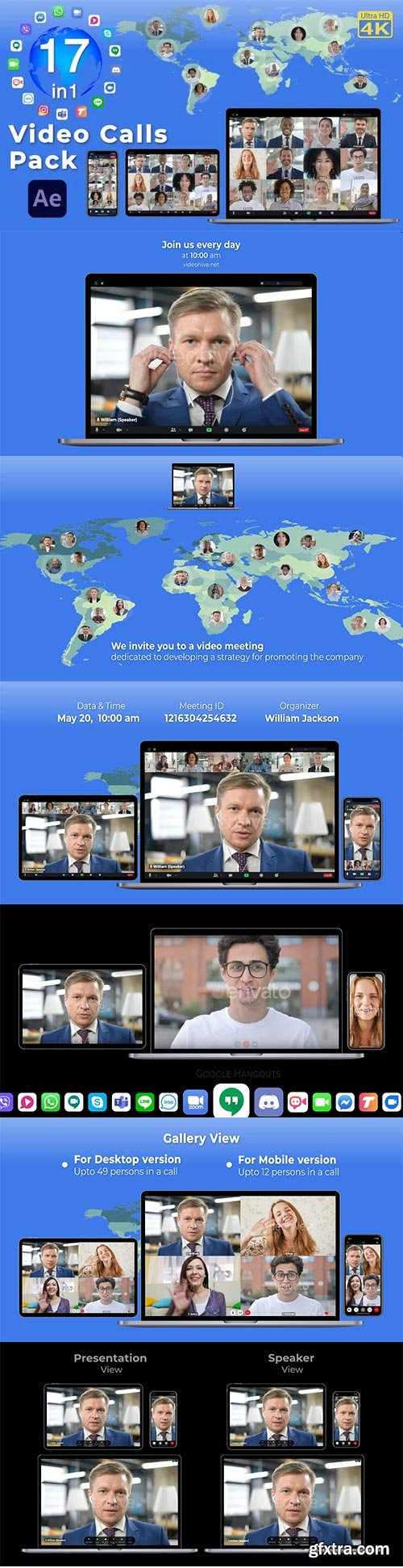 Videohive - Video Calls Pack 17 in 1 - 29709461