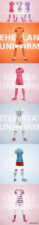 SportsTemplates - Female Soccer Uniform Template