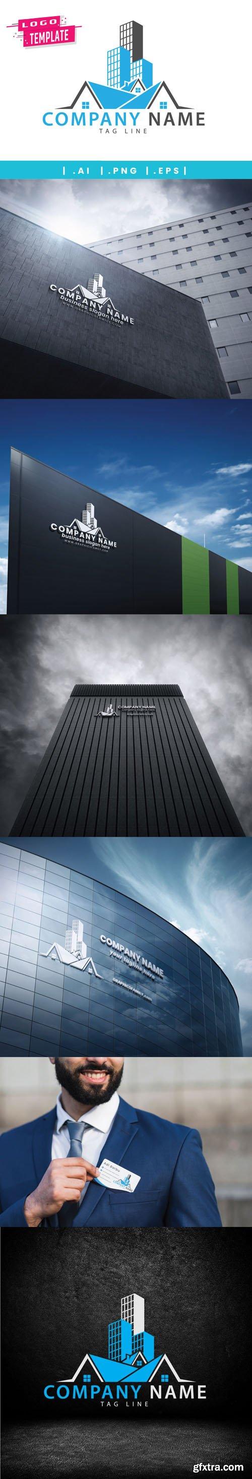Real Estate Company Logo in Vector