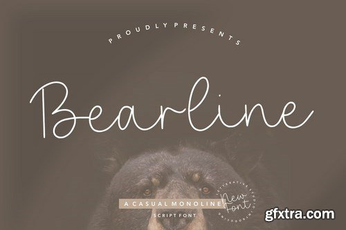 Bearline Signature Font