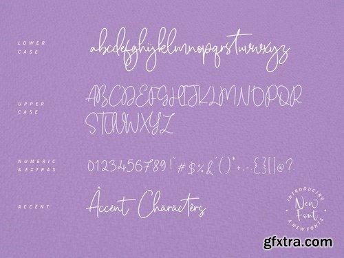 Citruslime Signature Font