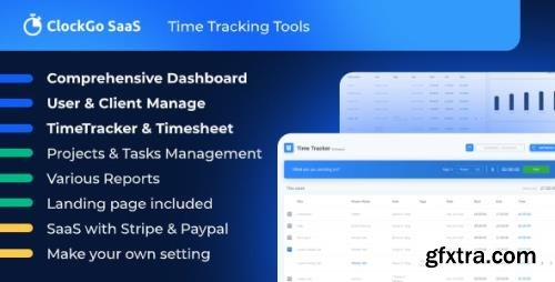 CodeCanyon - ClockGo SaaS v2.0.0 - Time Tracking Tool - 29855775 - NULLED