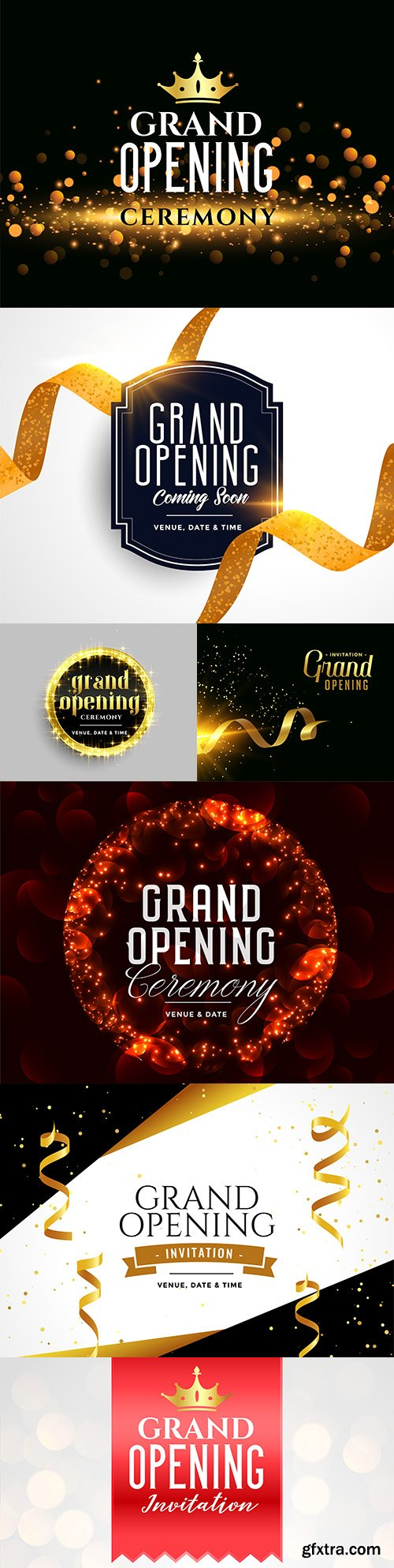 Grand opening ceremony of the celebration with glitter design template