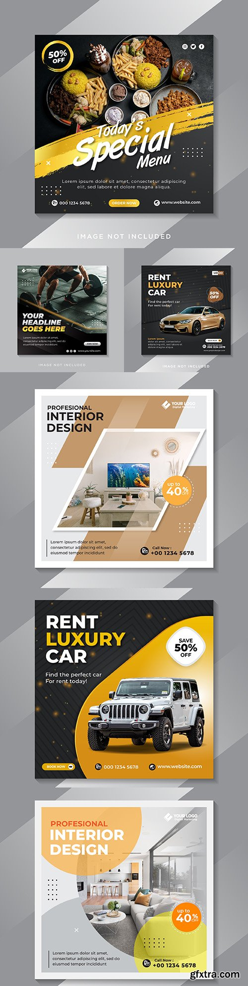 Social media message template to promote sale of item