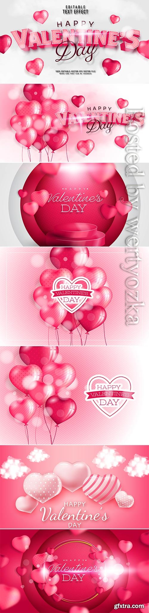 Valentine's day text effect in vector