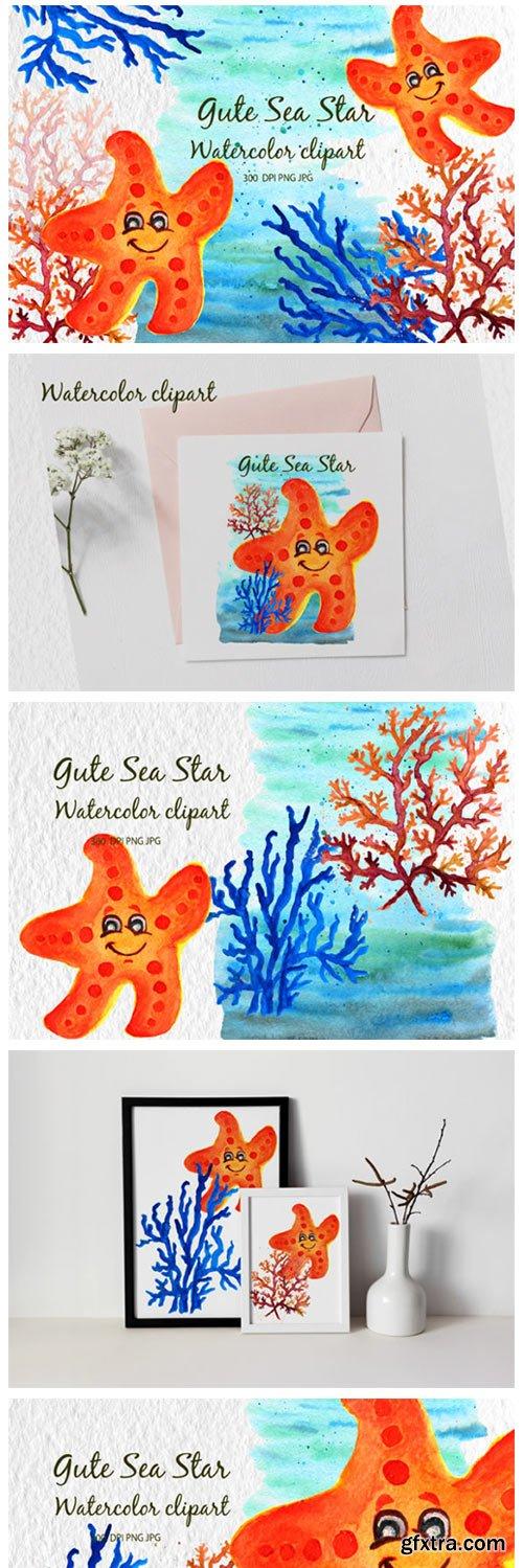 Corals Clip Art for Kids Watercolor Sea 8099997