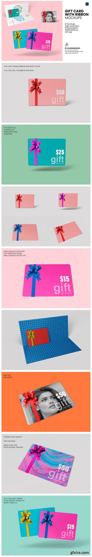 Gift Card with Ribbon Mockup - 8 Views 6713904