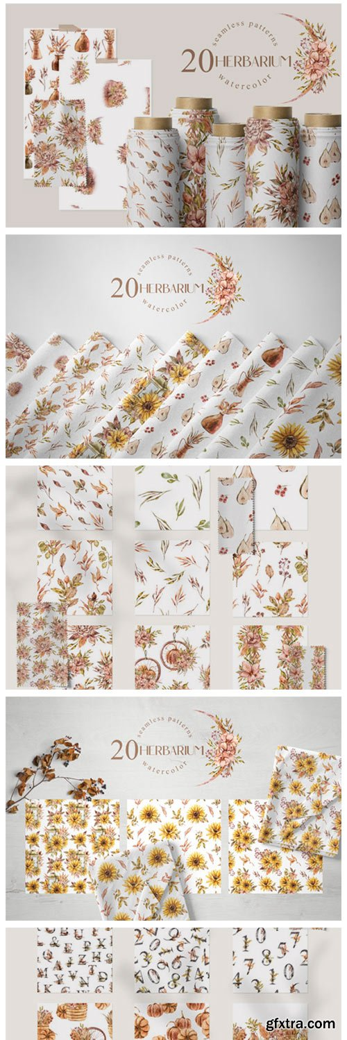 Watercolor Floral Seamless Patterns 8101116