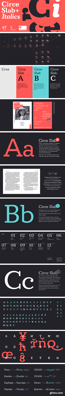 Circe Slab Font Family (Updated + Italics)