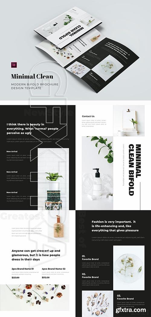 Minimal Clean Bifold Brochure