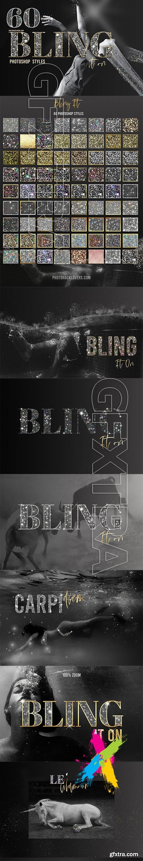 CreativeMarket - Bling it on Photoshop Styles 5747294