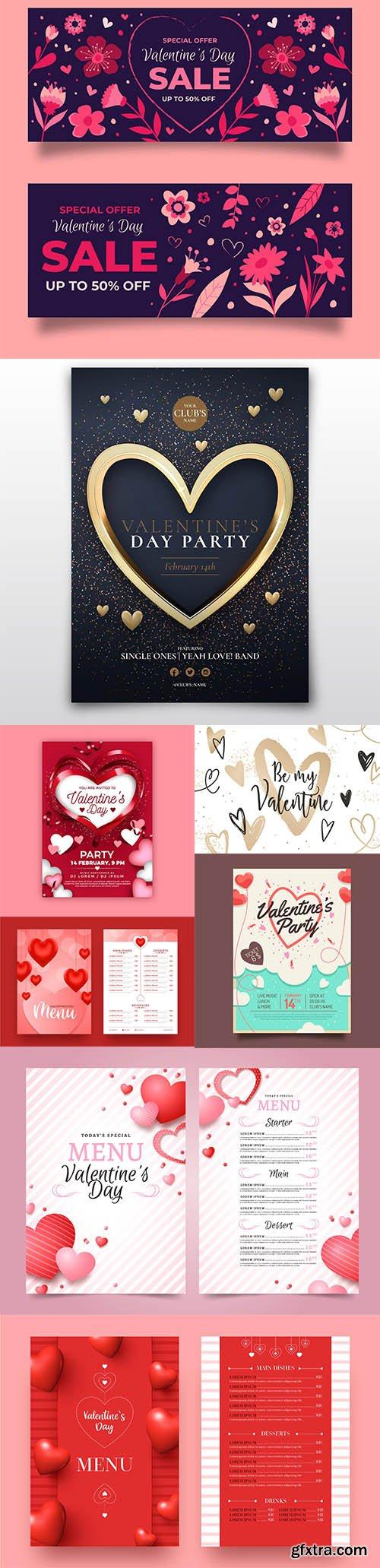 Happy Valentines day vector collection vol 5