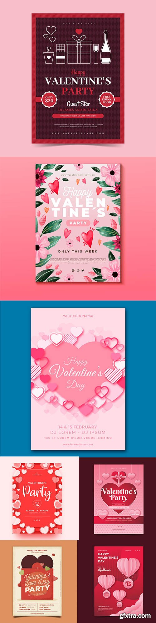 Happy Valentines day vector collection vol 6