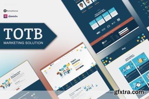 ThemeForest - TOTB v1.0.1 - Marketing Solution Elementor Template kit - 30237583