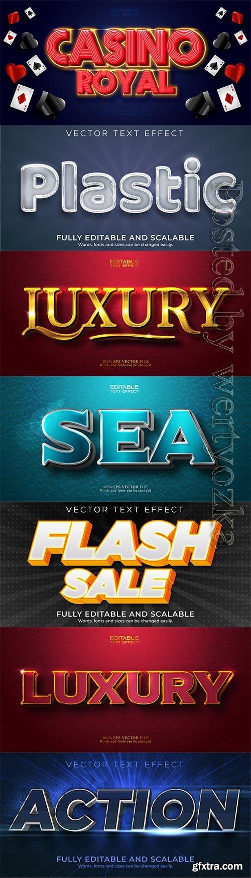 3d editable text style effect vector vol 235