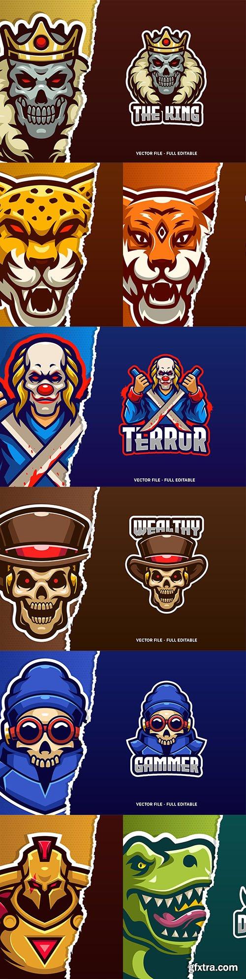 Logo template eSports and emblem mascot desig