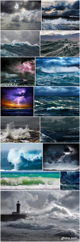Breaking Waves at Rising Storm - 14xHQ JPEG
