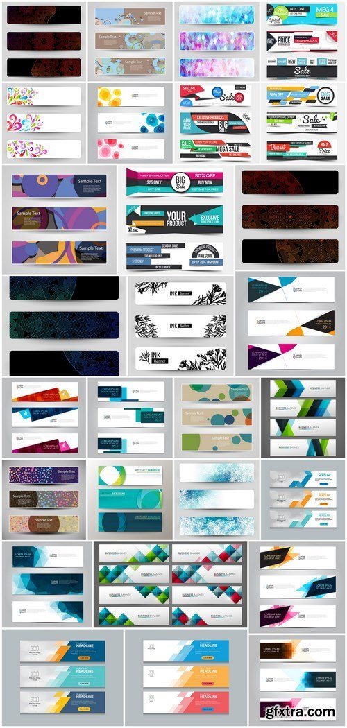 Design Banner Set 4 - 28xEPS