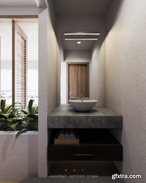 Bathroom Sketchup Scene