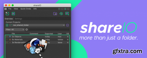 AeScripts ShareIO v1.10 for Cinema 4D WIN