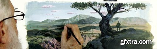 Painting a Landscape from Imagination Using Acrylics with Gary Meyer