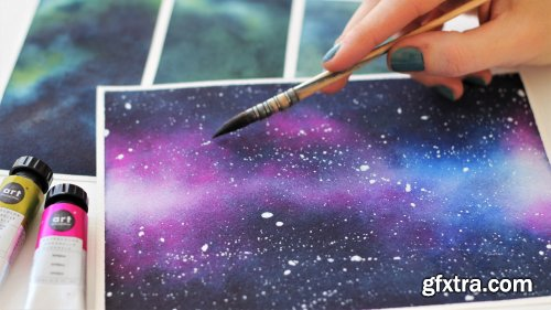 Watercolor Galaxies Part 1 : Comprehensive Guide For Smooth & Vibrant Backgrounds