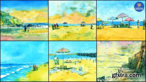 Watercolor Painting Essentials: Beach Landscapes