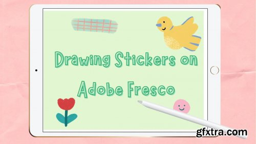 Intro to Adobe Fresco: Drawing Stickers with Pixel Brushes!