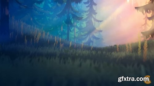 CGCookie – Creating A Stylized 3D Forest Environment With Blender 2.9
