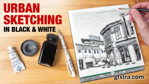 Urban Sketching in Black & White: How to Create Monotone Sketches