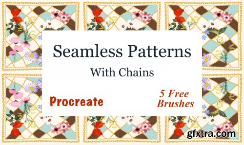 Seamless Pattern With Chains On Procreate + 5 Free Brushes