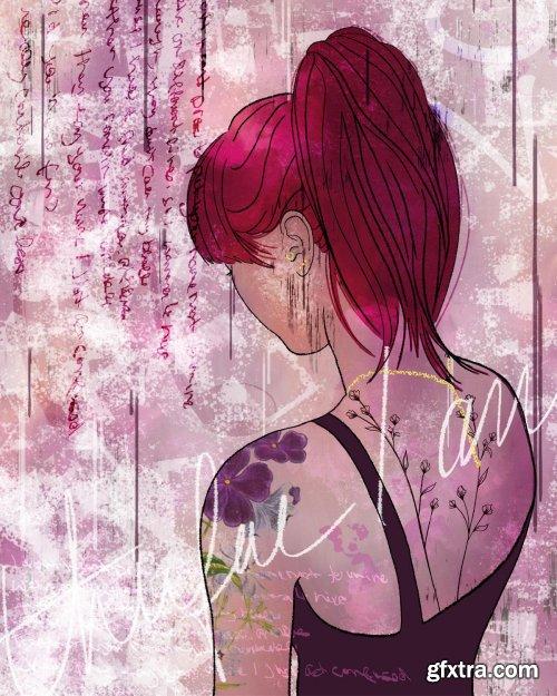 Digital Mixed Media Graphic Art - Adobe Fresco