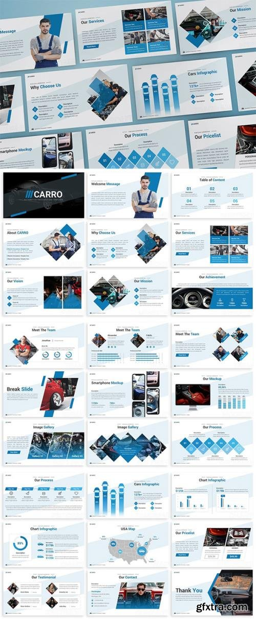 Carro - Automotive Keynote Template