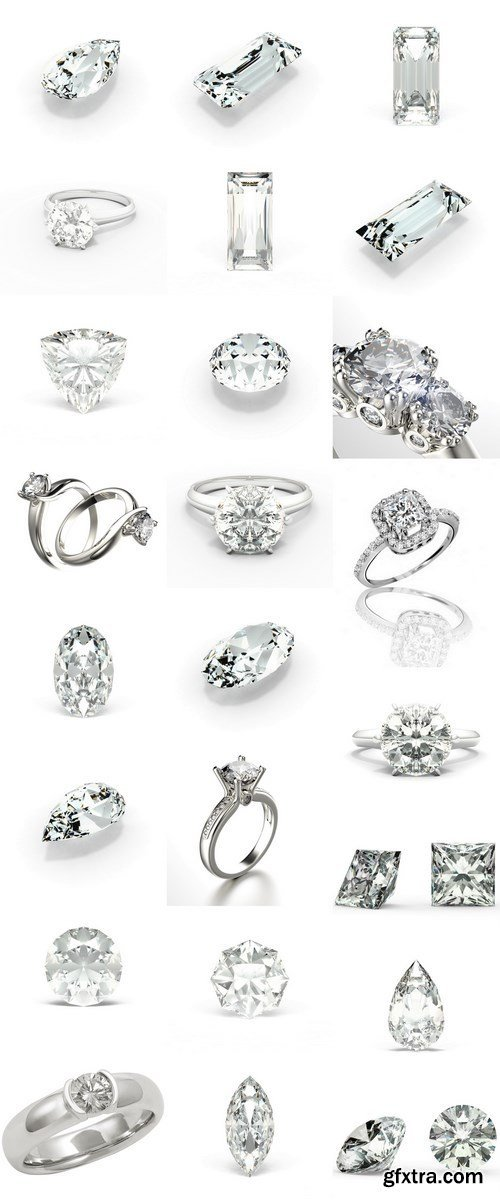 Diamonds and best engagement ring - 24xUHQ JPEG