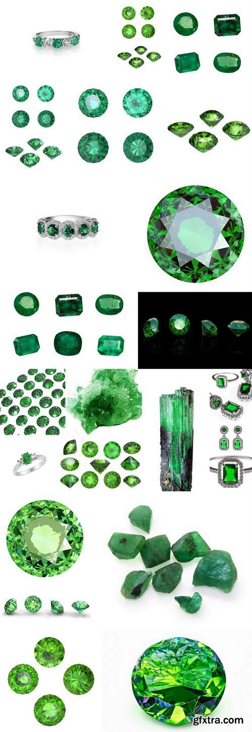 Emeralds Collection - Gemstones, 20xUHQ JPEG Photo Stock