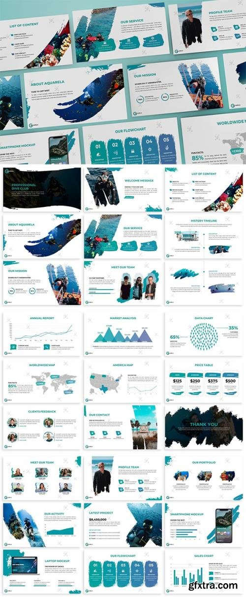 Aquarela - Abstract Keynote Template