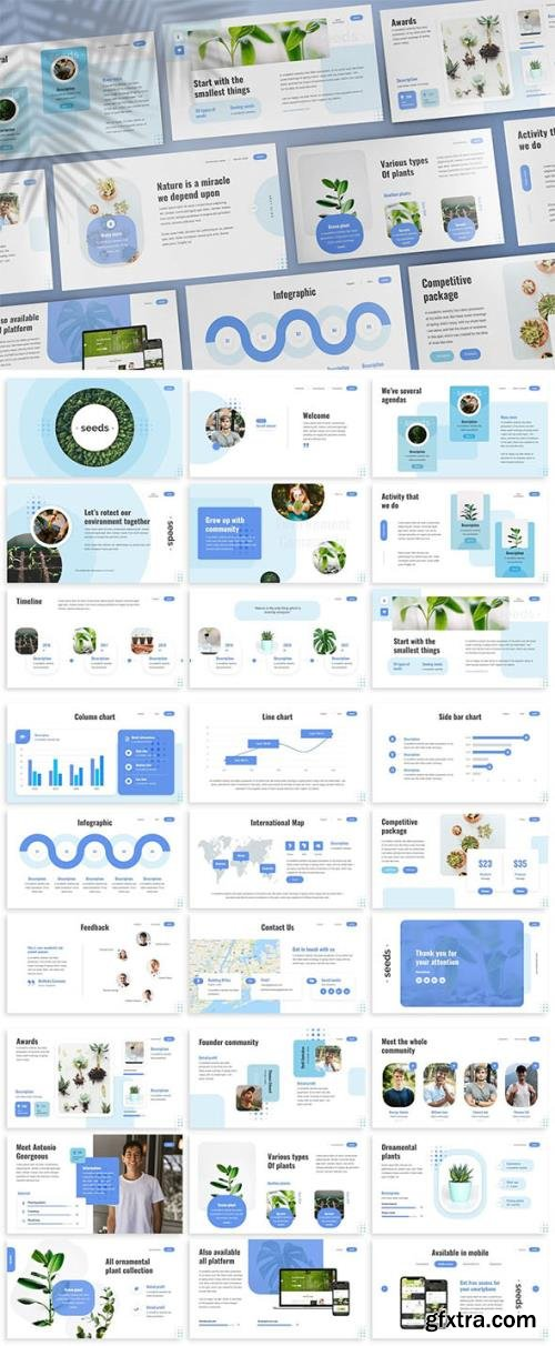 Seeds - Nature Keynote Template