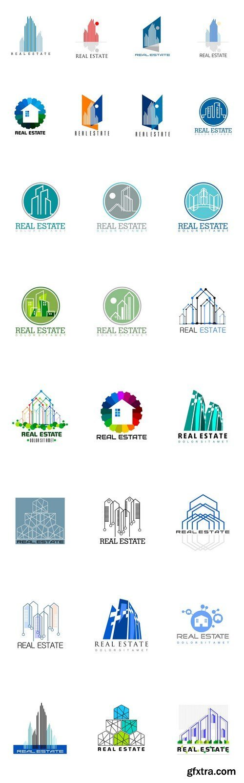 Logo Set - Real Estate - 26xEPS