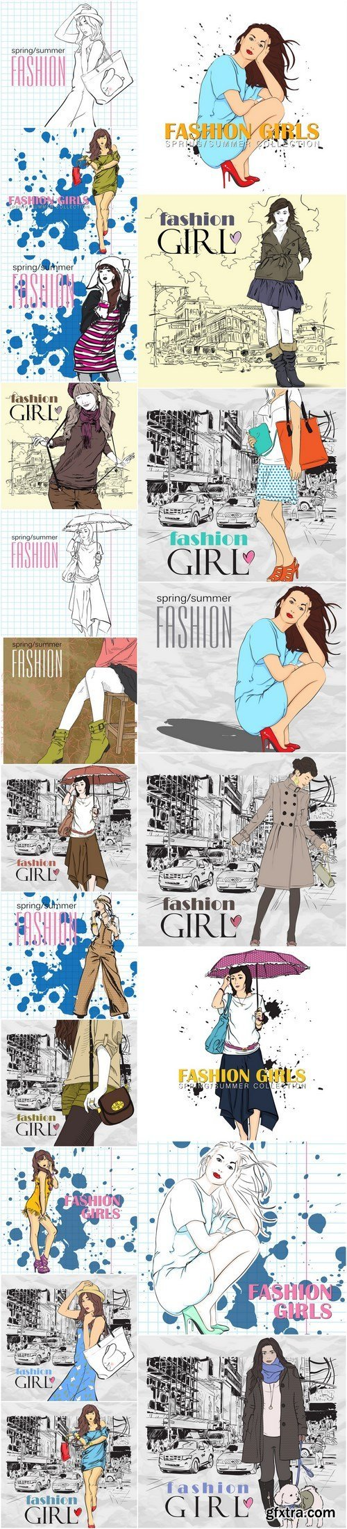 Female Fashion and Style - 20xEPS